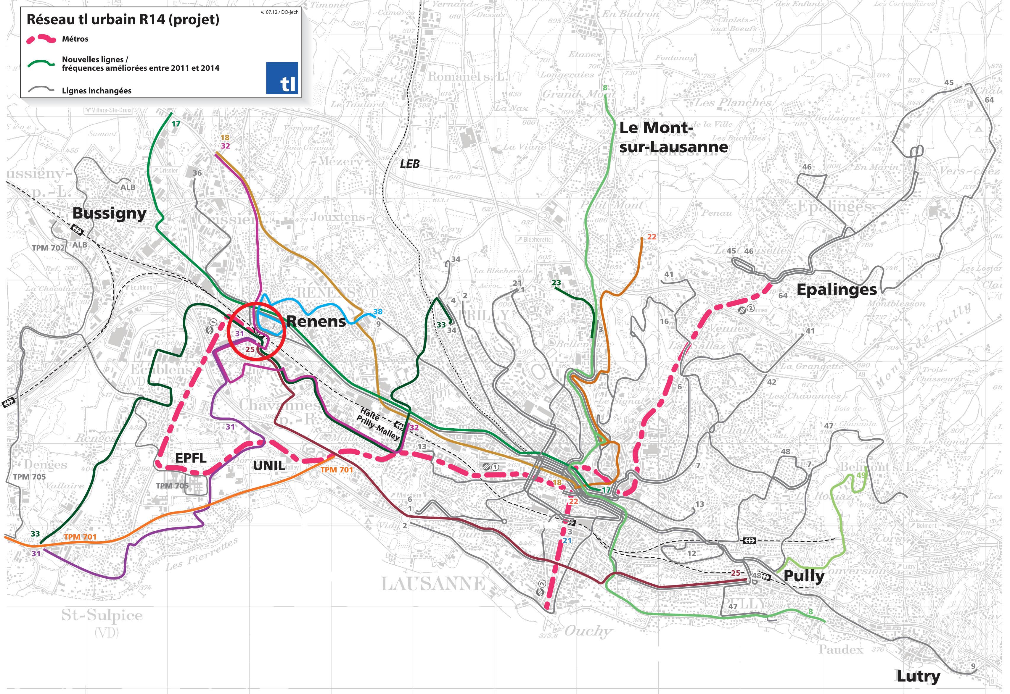 Transports publics Stratgie et dveloppement de lOuest lausannois